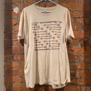 Vintage arrow off-white American Apparel t-shirt